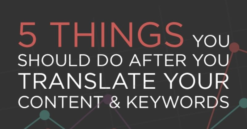 INFOGRAPHIC: 5 things you should do after you translate… | Wolfestone