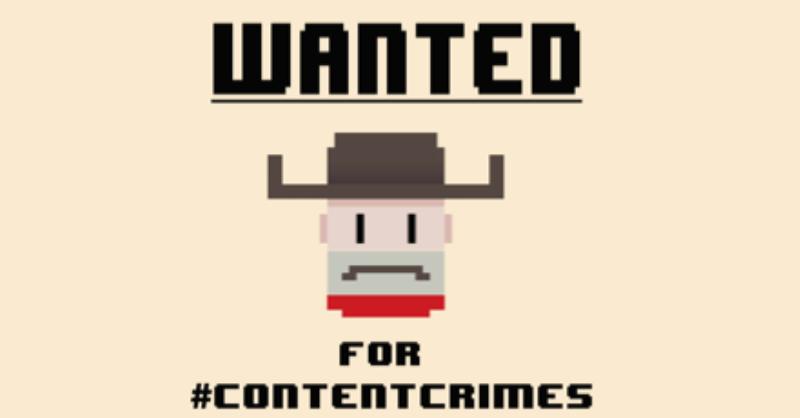 Content crimes and Wolfestone's marketing team…   Wolfestone